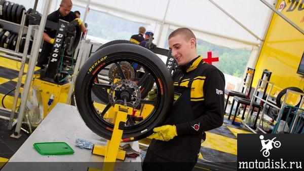 Dunlop ведёт разработку новых RFID чипов для мотоспорта